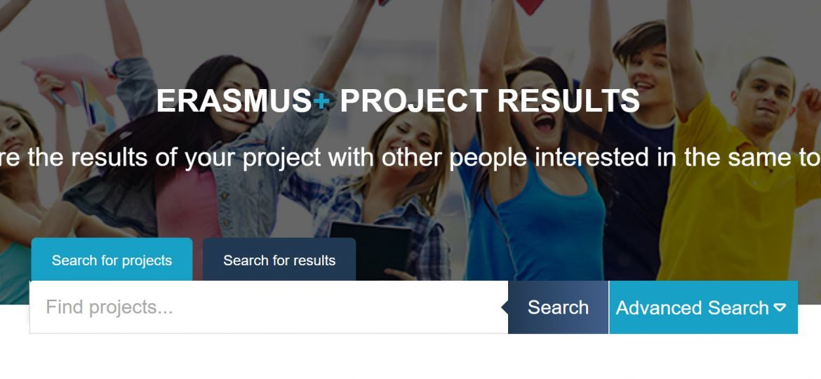 European Commision website on Erasmus plus project results link