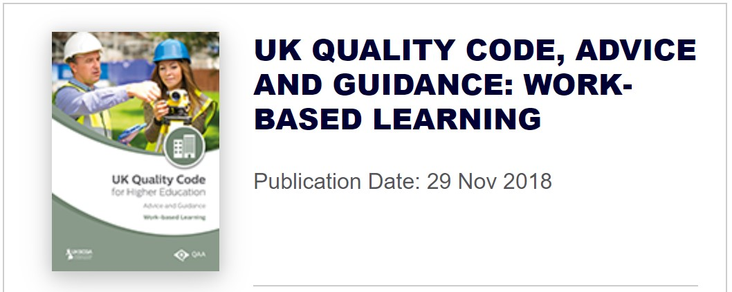 UK Quality Code for Higher Education Advice and Guidance Work-based Learning Publication
